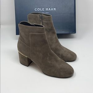 New/dis. Cole Haan Arden grand suede bootie